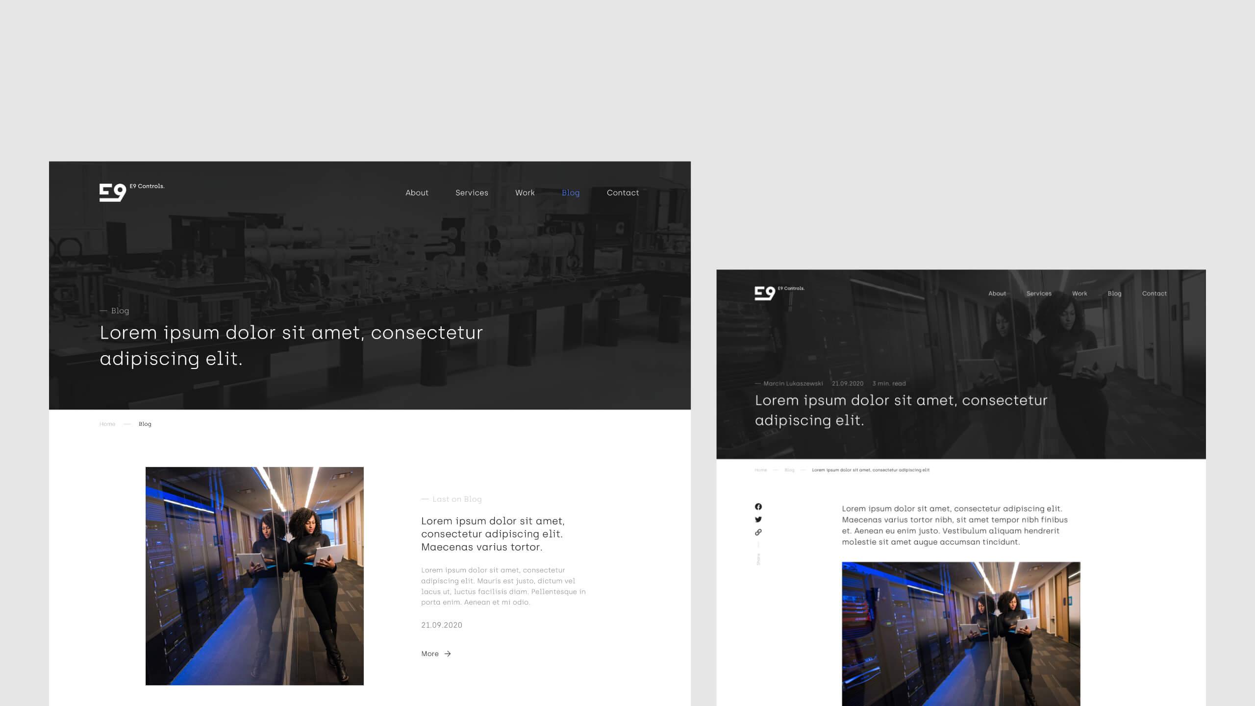E9 Controls - Blog firmowy na stronie www
