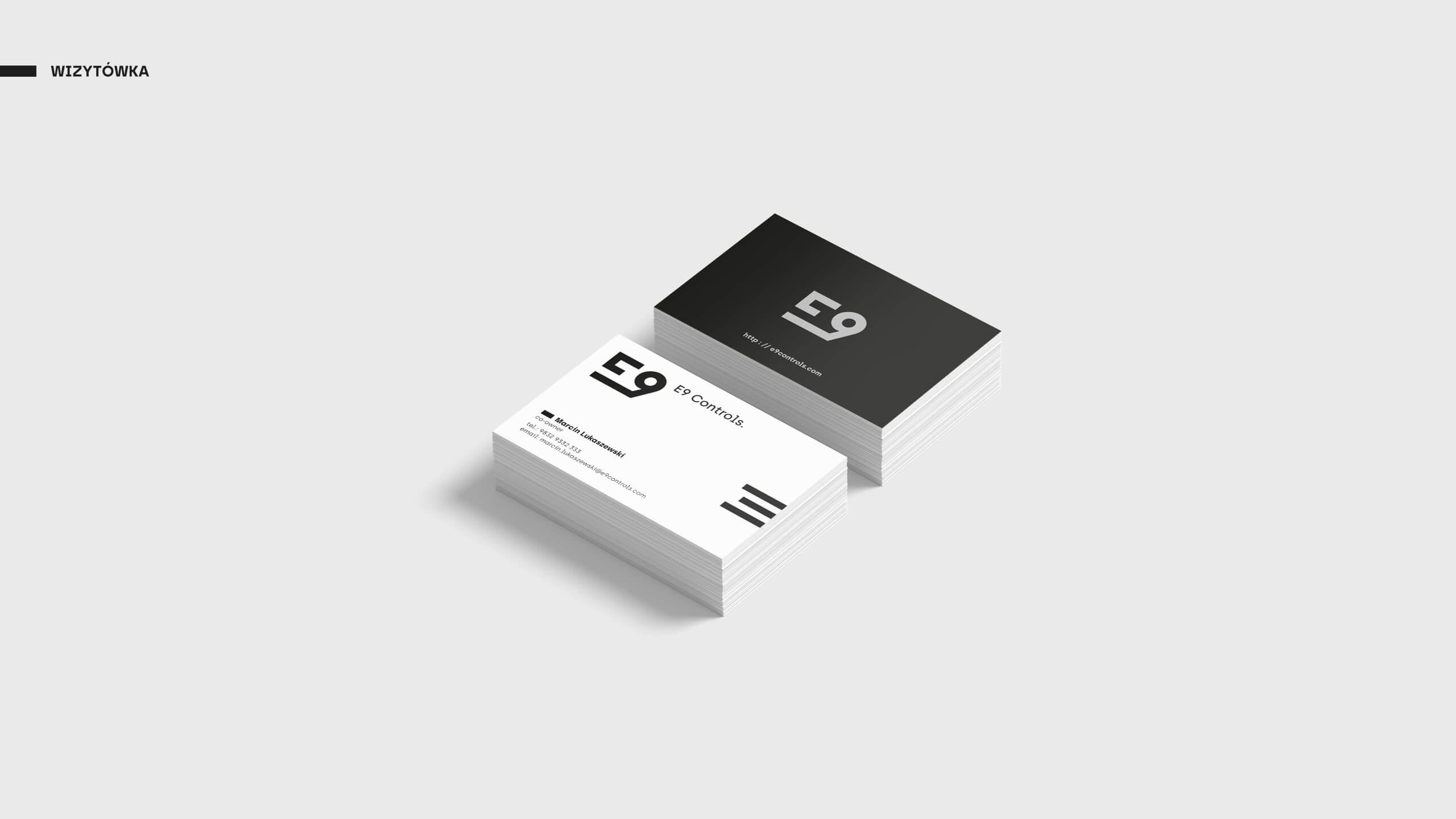 E9 Controls - Projekt wizytówki