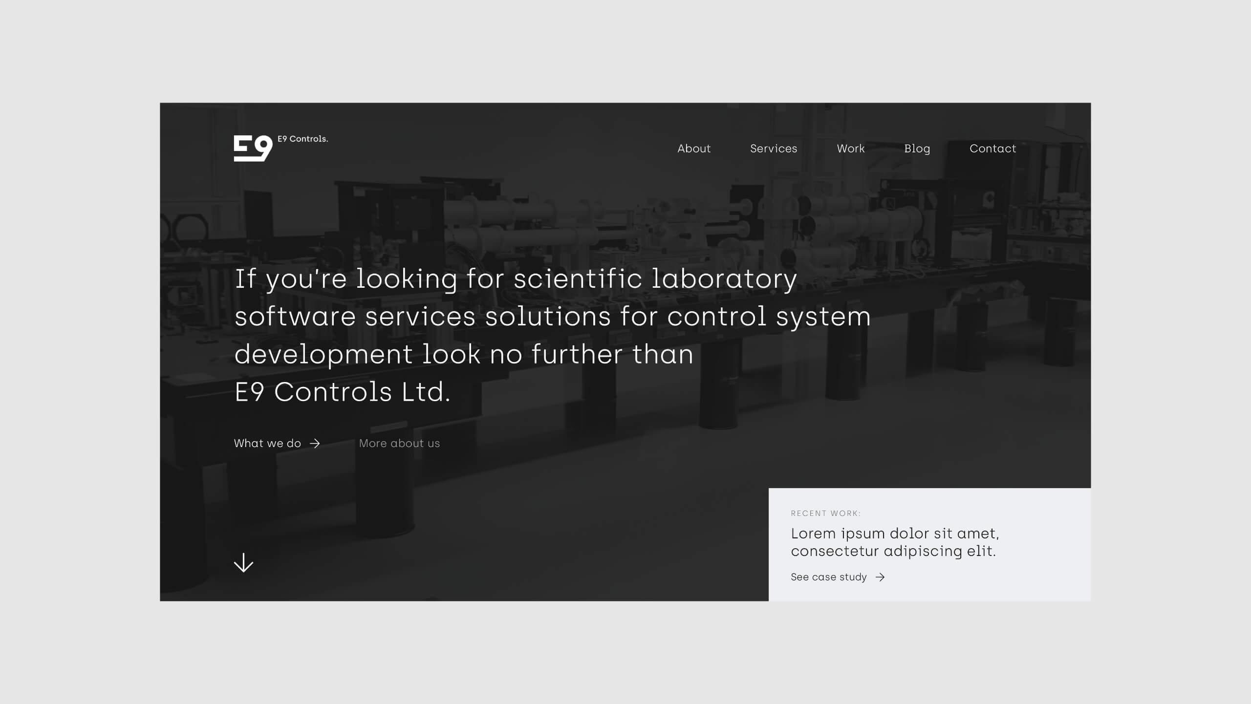 E9 Controls - Strona internetowa