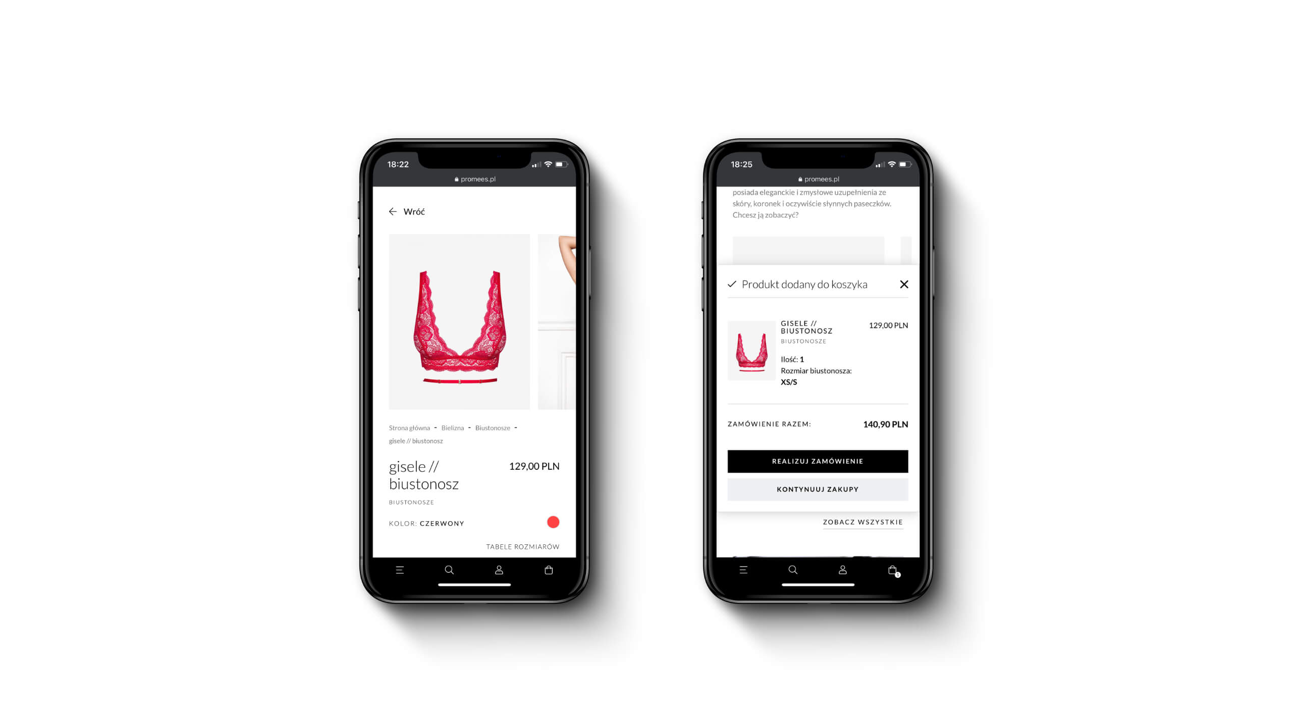 Promees - Ecommerce mobile