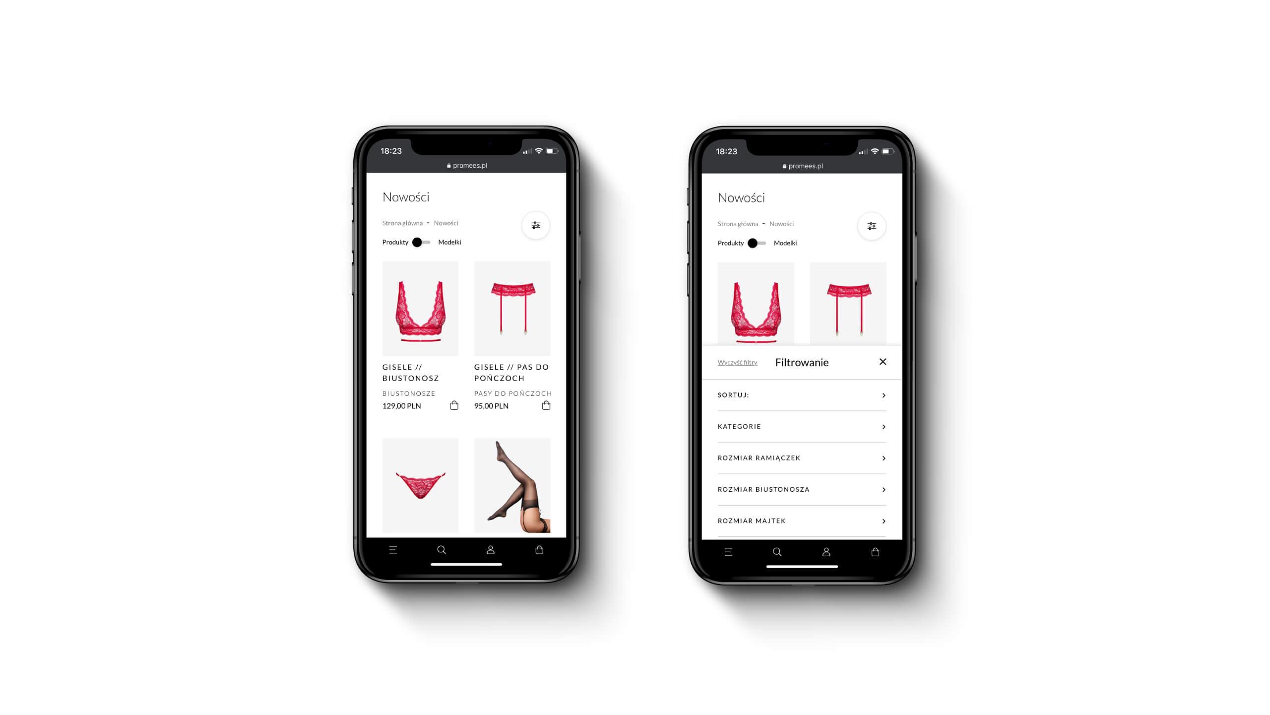 Promees - Filtrowanie mobilne w sklepie www prestashop