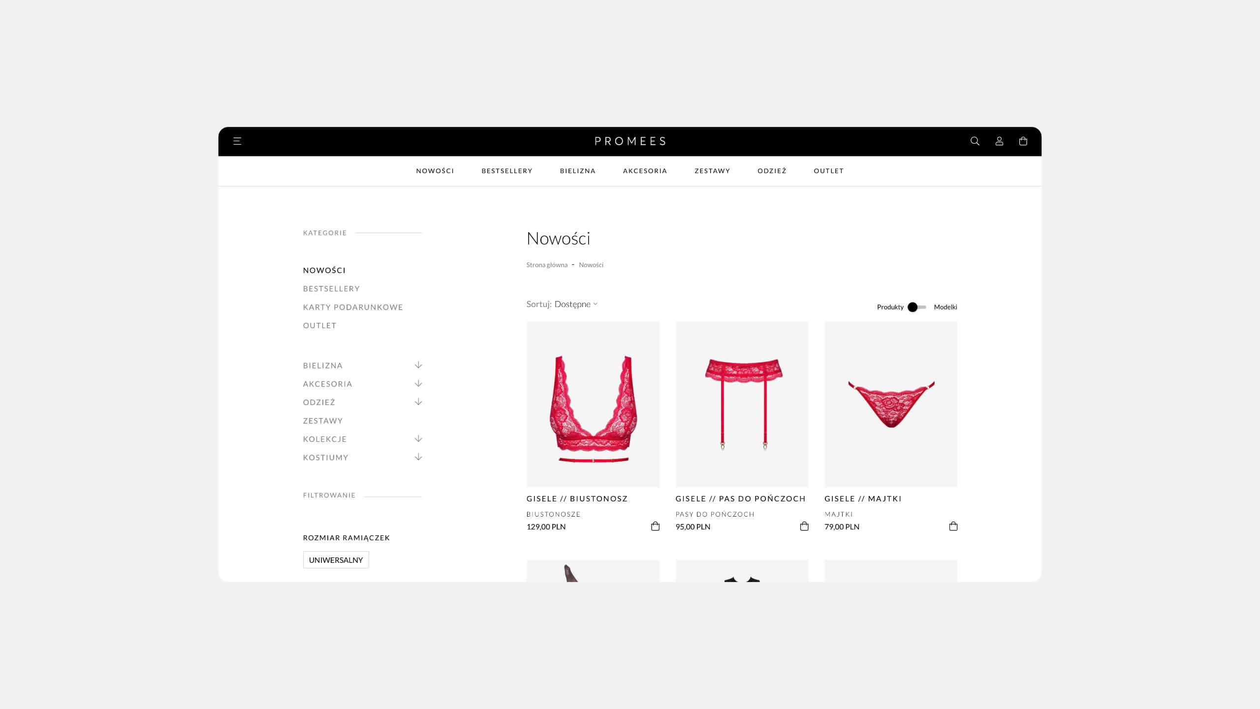 Promees - Nowoczesny sklep internetowy Prestashop