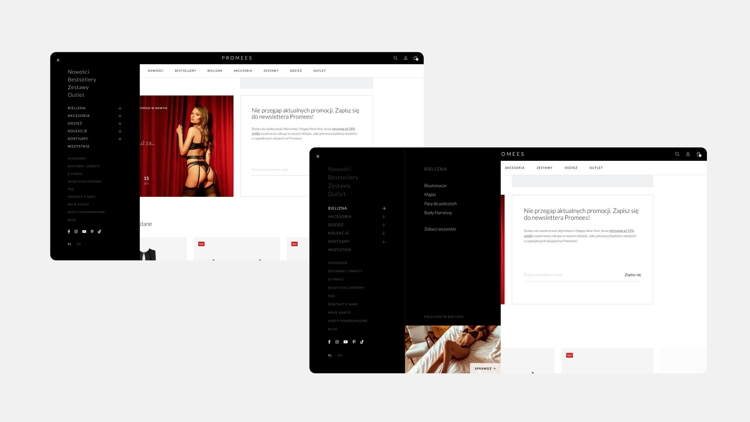 Promees - UX / UI Design Ecommerce