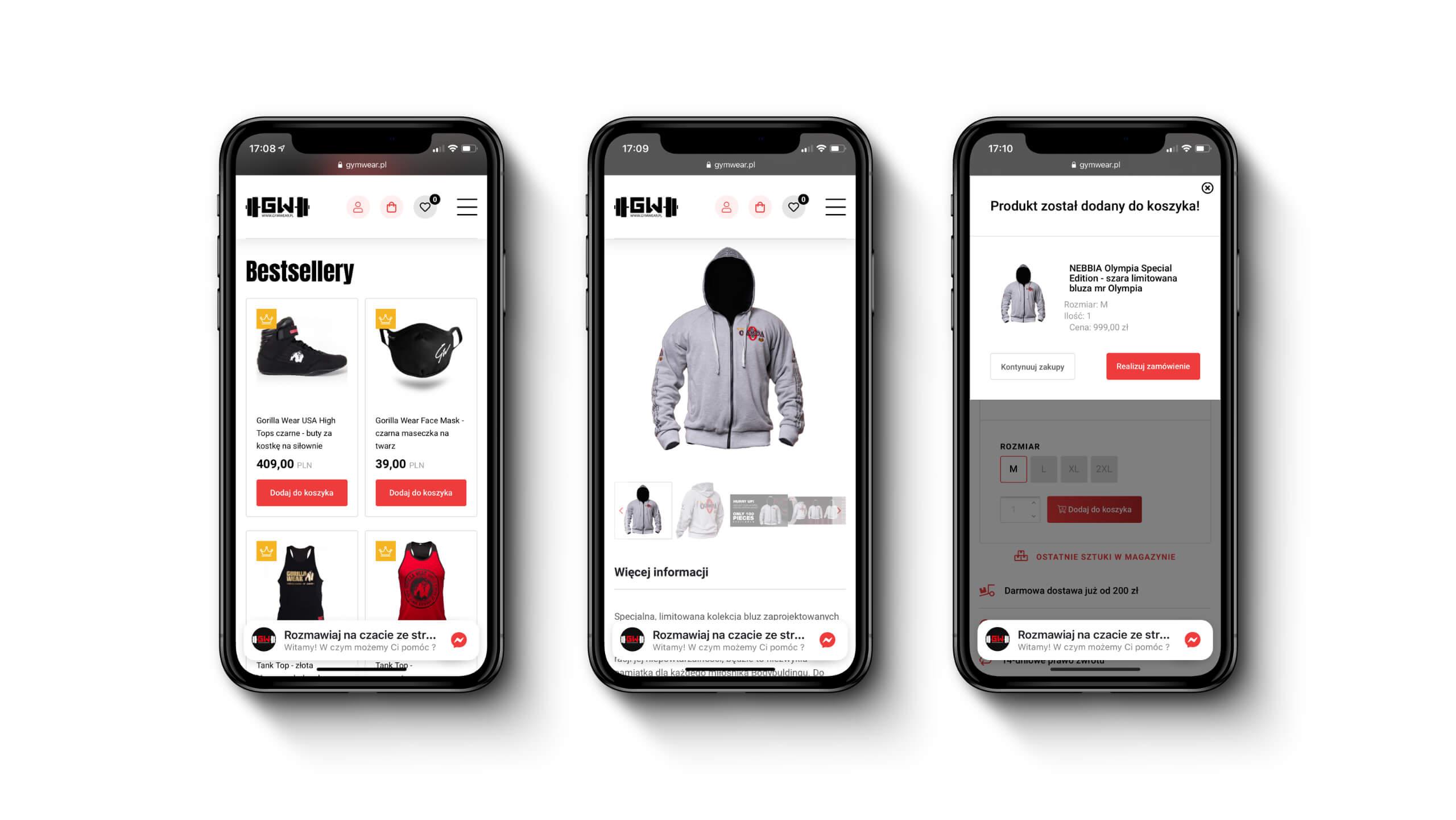 Gym Wear - Sklep mobilny z odzieżą sportową