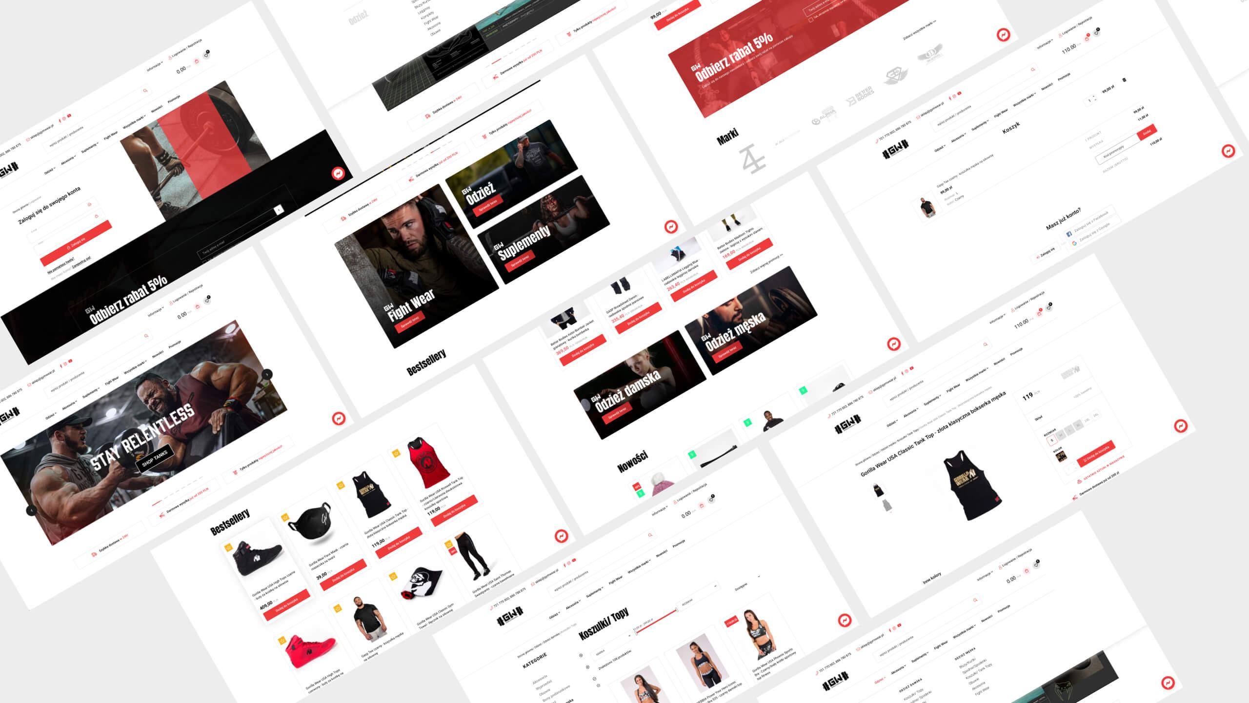 Gym Wear - Dedykowany sklep internetowy oparty o platformę PrestaShop